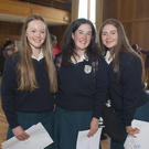 Emily Carey, Ciara Fagan and Kayleigh Whelan at the Dominican College