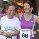 Amanda Mooney and Roisin Daly at the Wicklow hospice 5km run in Wicklow