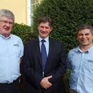 David Lalor (centre) with Aidan Moore and Tim O'Donovan of Seedtech