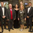 AMA members Colm Moules, Yvonne Kenny and Ann McGovern with the five Wicklow TDs at the recent Arklow Chamber Awards