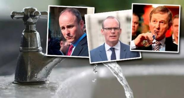 The Irish Water gang trio of Michael Martin, Simon Coveney and Enda Kenny