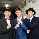 Conall Byrne (Fat Sam), Conor Deering (Leroy) and Jack Keenaghan (Bugsy)