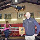 Les Culliton, head coach of Rathdrum & Wicklow Gymnastics Club, with his award