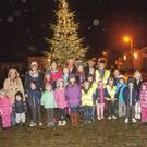 Switching on the lights in Dunlavin. Photo Joe Byrne