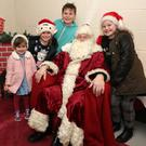 Santa with Lucy, Isabelle, Toby and Abbie Byrne