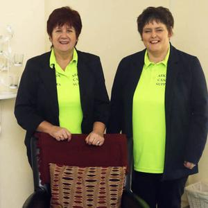 Arklow Cancer Support director of services Mary O'Brien, left, with Treasa Walker at the St Mary's Road premises