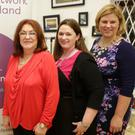 Bibi Baskin with Louise Meehan, President Network Wicklow from Woodview HRM, and Rebecca Harrison, the President of Network Ireland from Fishers.