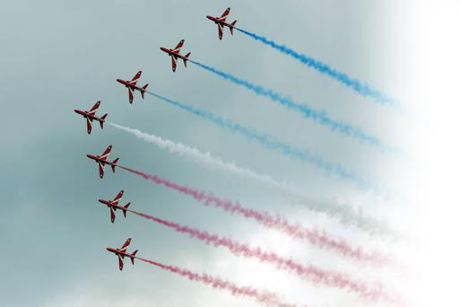 The Red Arrows at last year's Bray Air Display