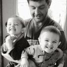 The late Sean Maher with his sons, Ralph and Harry
