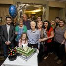 Myles Kavanagh celebrating his 60th birthday with family and friends in the Grand Hotel on Friday night