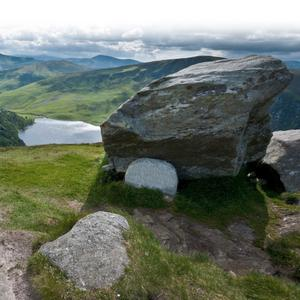 The JB Malone memorial above Lough Tay in the Wicklow Mountains National Park
