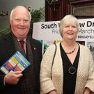 Chairman Eamonn Doran, Jacqui Mulholland and Fr Joe Power at the launch of the South Wicklow Drama Festival in Carnew
