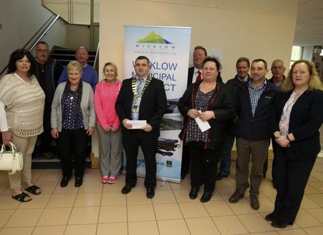 Cllr John Snell and members of Wicklow Municipal District present annual estate management awards