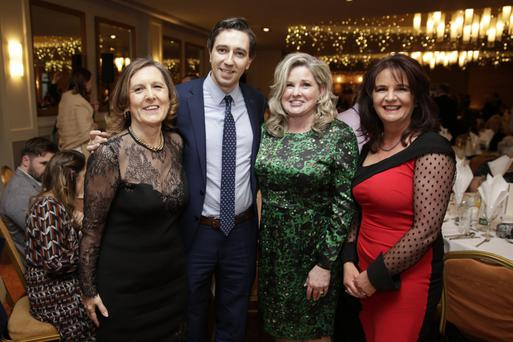Evanne Cahill, Minister Simon Harris, Lisa Sullivan and Marie Kindlon at the gala hospice fundraiser in the Parkview Hotel last Friday, hosted by Wicklow County Council