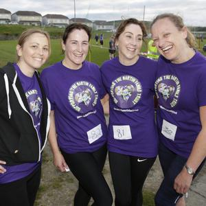 Ailish Martin, Maura O'Grady, Deirdre O'Brady and Sinead Martin at the 5k in Rathnew GAA Club