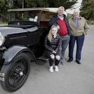 Ali and Noel Kavanagh with Jack Healy and Noel's 1927 Ford Model A