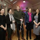 Rachel Factor, composer Elaine Agnew, piper James Mahon, Jane Clarke, Nell Regan and Eamonn Sweeney at the launch night