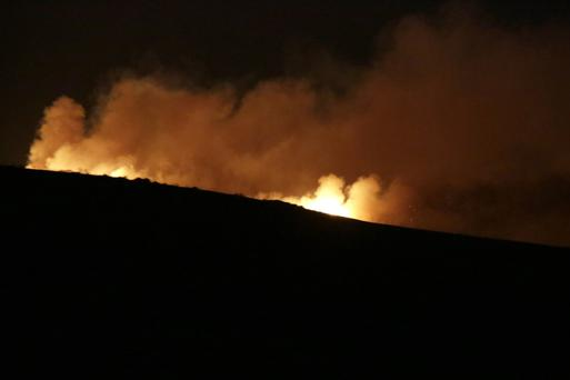 Gorse fires on the Sugarloaf, close to the Long Hill between Kilmacanogue and Roundwood early on Saturday morning