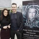 Carrie Ann Jameson from Newtown who bumped into Keith Barry picking up tickets for his show.