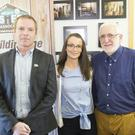 Barry Sheridan, CEO of Irish Men's Sheds Association, Edel Byrne, Health and Wellbeing Co-ordinator, and Sean Farrington