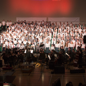 National Children's Choir Regional Concert at Shoreline Greystones: the assembled choir from St Patrick's Bray, St Patrick's Curtlestown, St Patrick's Greystones, St Laurence's Greystones, Scoil Chaoimhin Naofa Glendalough