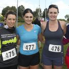 Orla Hobbs, Eimear Nolan, Ciara Nolan and Louise Kehoe at the Arklow RNLI Welly run at the sports centre, Arklow