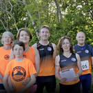 Some of the runners at Shanganagh Park for their Tuesday night run