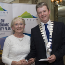 Marie Tutty of Hollywood Tidy Towns and Cllr Edward Timmins