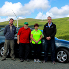 Andy Fox of Coillte, Peter Toole, Mary O'Brien, and Peter O'Hagan of ESB Wind Development