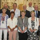 The 50-year celebrants with Fr Donal Roche