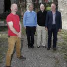 Huw O'Toole supervising architect with Robert Byrne, Canon Sean Smith and Paul Kavanagh at Kilmurray Church