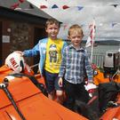 Cormac Doyle and James Colgan at the Wicklow RNLI open day
