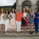 Wicklow Rose Abby McKenna, organiser Sandra Maher and 2016 Tinahely Show Queen Emma Pearson (centre) with this year's show queen hopefuls: (from left) Ellen Walsh, Beibheann Byrne, Eimear Stephenson, Shona Mulligan, Courtney Farrell, Miriam Smyth, Ashling Quinn and Macayla Murphy