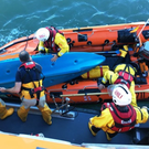Members of Arklow RNLI taking part in the rescue near Ardamine Beach