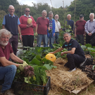 Members of Tinahely Men's Shed enjoy the fruits of their labour