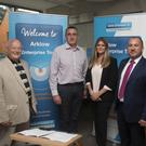 Jimmy Dunne and Donal Murray from Arklow Business Enterprise Centre, Marie Coleman, Head of Band of Ireland Wicklow, Derek Tobin Manager of Bank of Ireland Arklow and Arklow Municipal District chairman Tommy Annesley at the Launch of Arklow Enterprise Town.