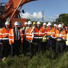 Minister Eoghan Murphy turns the sod on the new housing development 'Avondale Heights' in Rathdrum on Monday