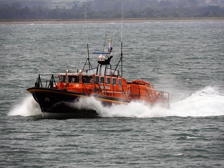The all-weather lifeboat races to Brittas Bay
