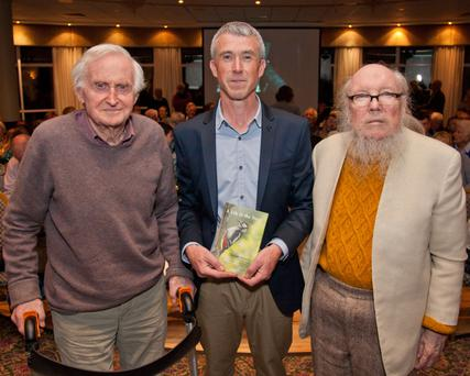 John Boorman, author Declan Murphy and Hon Dr Garech Browne at the launch of 'A Life In The Trees'