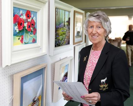 Delgany Golf Club lady captain Barbara Roy at the exhibition