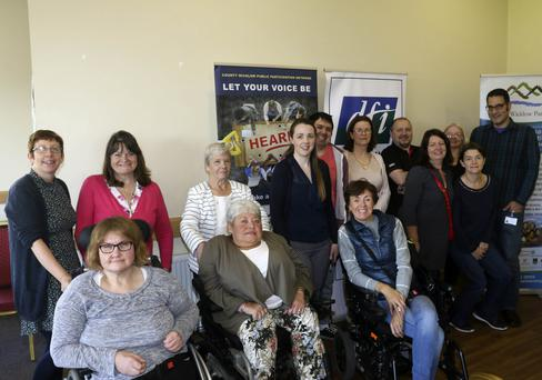 Some of the participants in the 'Let'sTalk About' event on disability at Arklow Presbyterian Church Hall