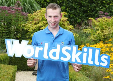 David Donegan from Baltinglass, who will compete in the upcoming World Skills competition in Abu Dhabi