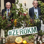 Chef James Kavanagh of BrookLodge, Evan Doyle of BrookLodge and food producers Freda Wolfe, Michael Stapleton, Pat Lalor, Denis Healy, Liam Fanning, Silke Cropp and Kitty Colchester at the ZEROKM dinner