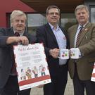 Cllr Vincent Blake, Chief Officer David Walsh, Cllr Tommy Cullen and Brena Dempsey, HSE Head of Health and Wellbeing, at the vaccine launch