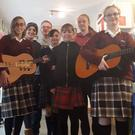 Participants at the new music programme in The Vault Youth Centre