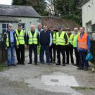 Some of the 14 members of Tinahely Men's Shed outside their renovated premises