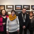 Cllr Tommy Annesley with garden winners Fiona Wynne, Inez Hogan and Angela and Jim Dowling.