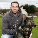 Peter McKenna and his dog Legend, who came 16th at the World Championships for German Shepherds in Tilburg, Holland, last month