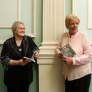 Valerie Cox with Patricia Larkin, sister of ALONE founder Willie Bermingham