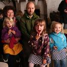 Noli Russell-Klein with Milabelle, Fjon, Lottie and Becky Klein at the storytelling in the Shoot Room at Killruddery
